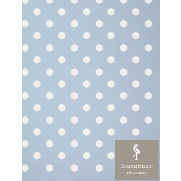 Детский плед Biederlack Lovely and Sweet DOTS blue