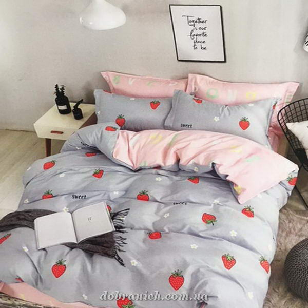 Комплект белья сатин CAT IN BED Strawberry